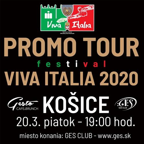 PROMO TOUR VIVA ITALIA 2020 - KOŠICE